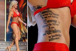 Впервые в конкурсе «Мисс Америка» примет участие девушка с татуировками
